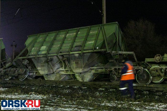 ВОрске восстановили движение после схода поезда срельсов