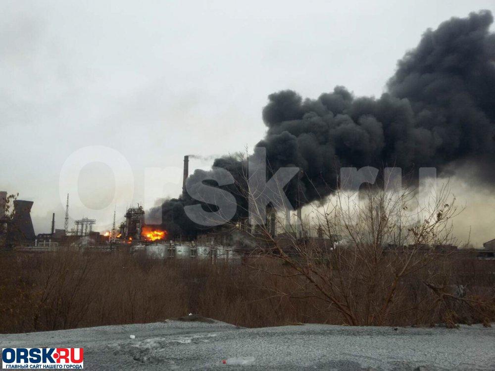 ВНовотроицке горела «Уральская сталь»