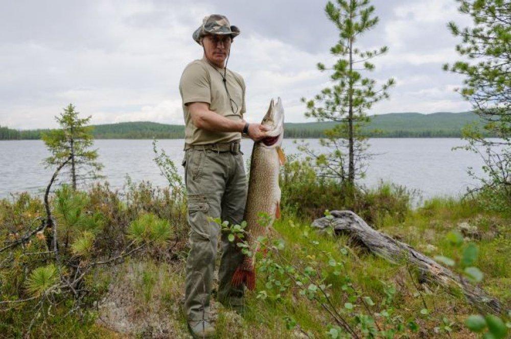 Путин поведал  освоем самом огромном  улове нарыбалке