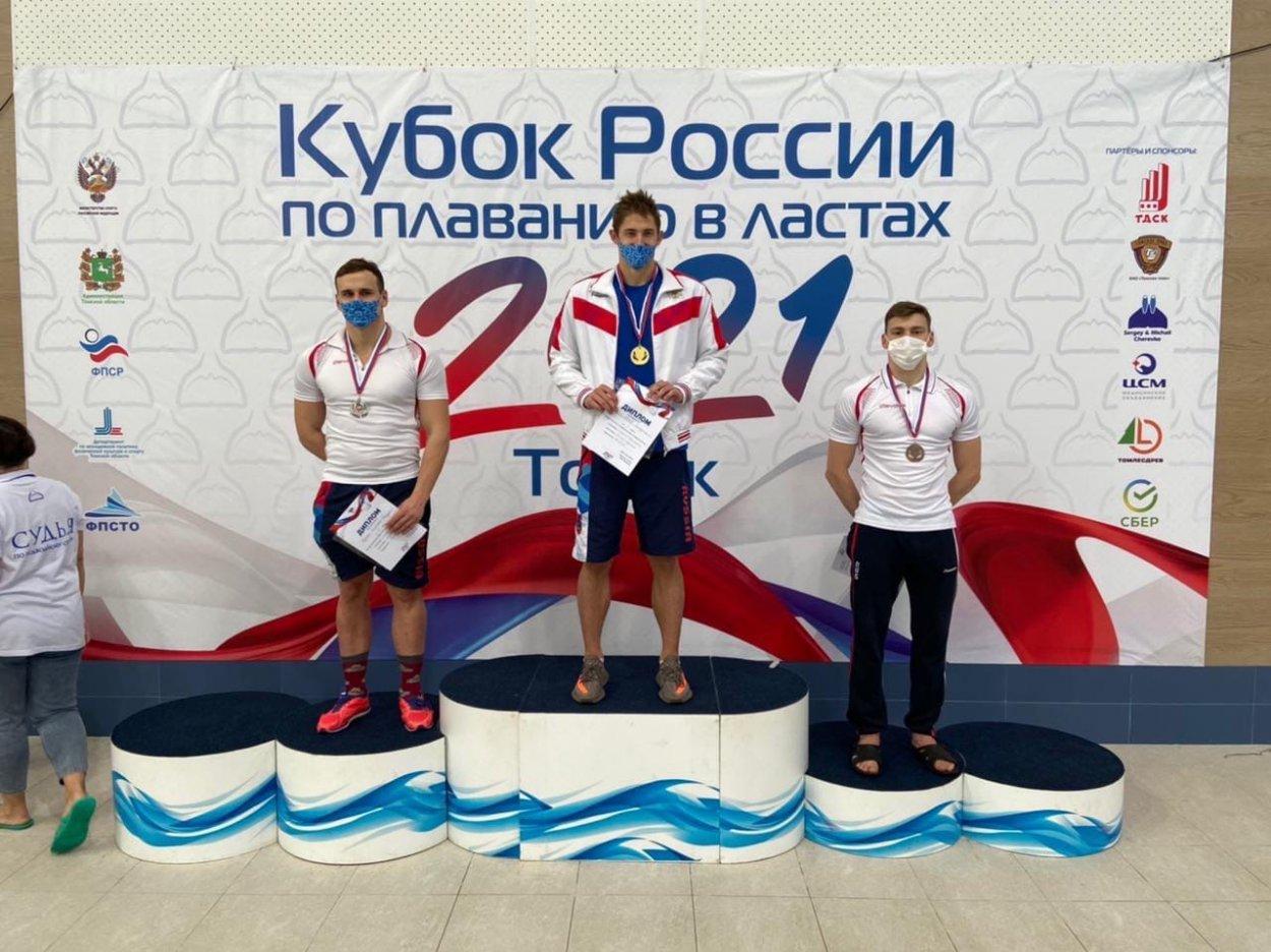 Орчанин Алексей Федькин взял три «золота» на Кубке России по плаванию в ластах